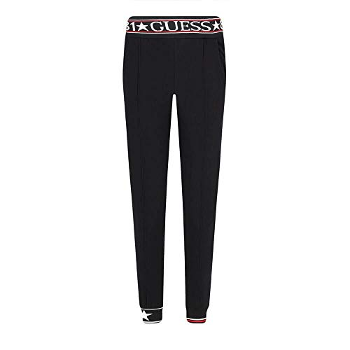 Guess O94A49 FL01I A996 - Pantalón de chándal para mujer, color negro