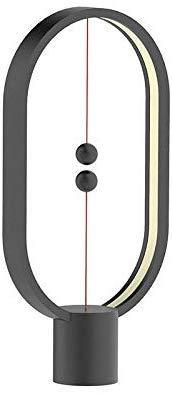 Yinging Balance-lamp – Ellipse magnetische schakelaar, ledlamp, powered USB, kan warm worden verduisterd, ledlamp, oogverzorging, nachtlampje, decoratie voor slaapkamer, woonkamer, kantoor, eetkamer