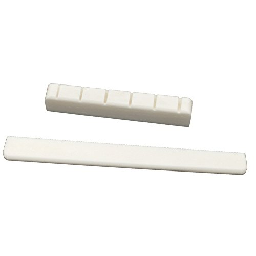 Greenten Classical Guitar Bone Saddle and Nut Pre-Slotted Set Guitars Part Replacement