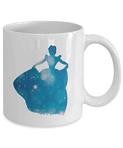Eli231Abe Assepoester mousserende jurk Silhouette mok klassieke film film Fan cadeau prinses 11 Oz witte koffie theekop