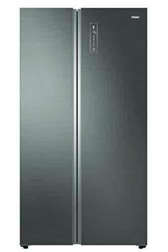Haier HRF-800DGS7 Side-by-Side mit Glasfront in Stilvoller Metalloptik Total No Frost/A++/ 190 cm Höhe/ 100 cm breite/ 455 kWh/Jahr/ 449 L Kühlteil/ 327 L Gefrierteil/Eiswürfelbereiter