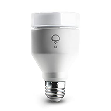 LIFX + (A19) Wi-Fi Smart LED Light Bulb with Infrared for Night Vision, Adjustable, Multicolor, Dimmable, No Hub Required, Works with Alexa, Apple HomeKit and the Google Assistant, Pack of 4