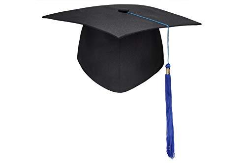 KAIMENG Doktorhut Graduation Cap, Einstellbare Erwachsene Student Unisex(Blaue Quaste)