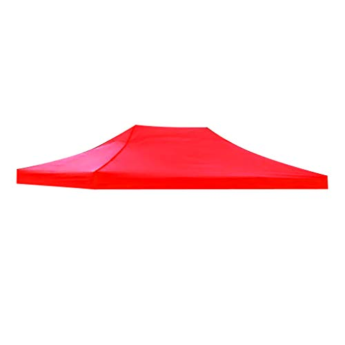 Toygogo Replacement Canopy Top Cover For Camping Patio Canopy Tent Sun Shade Shelter - Red 3x4.5m