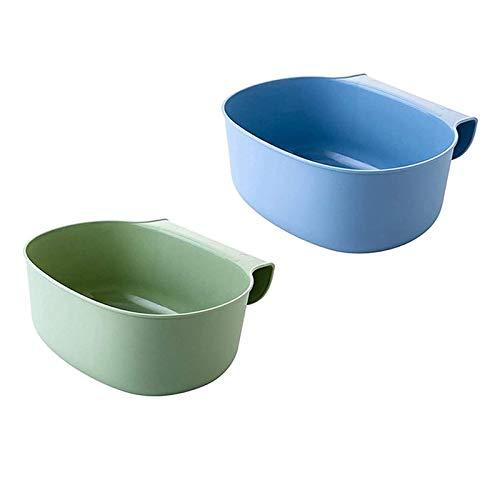HPiano 2 pcs Auffangschale für Küchenabfälle, für Küchenabfälle zum Einhängen Mülleimer Abfall Behälter für Bio Müll Abfalleimer Küchenschrank Cabinet Tailgate Ständer Taschen Trash