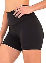 90 Degree By Reflex - Power Flex Yoga Shorts (S, Black High Waist)