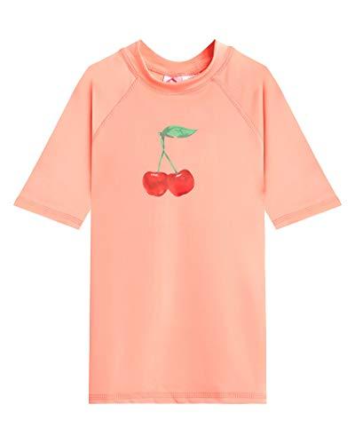 Kanu Surf Mädchen Karlie UPF 50+ Sun Protective Rashguard Swim Shirt Rash Guard Hemd, Addie Lt Coral, 5 Jahre