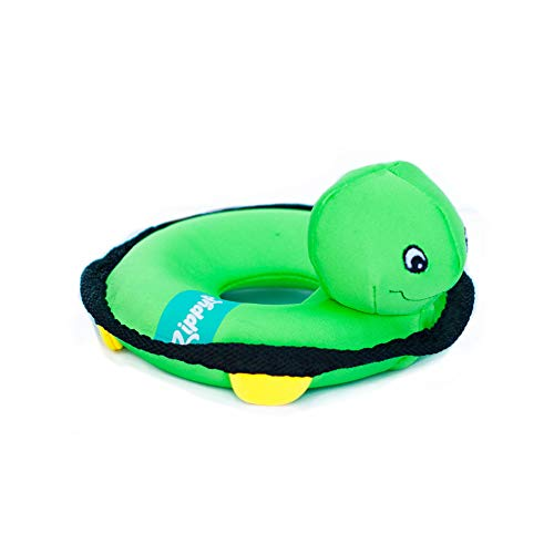 ZippyPaws - Floaterz, Outdoor Floating Squeaker Dog Toy - Turtle, Green