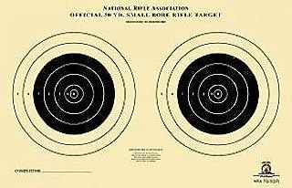 Official TQ-3/2 NRA Target, 50 Yard Smallbore Rifle, Two Bullseye, 9
