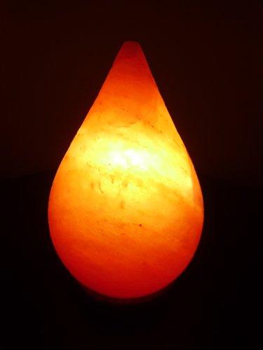 Rock Lampada Di Sale in Dwe Goccia Forma con Elettrico Corda e Lampadina