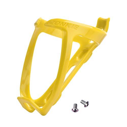 Portabidón de Bicicleta, Jaulas de Botellas de Bicicleta, Soporte de plástico para Botellas de Bicicleta, Carreteras, Bicicletas de montaña (Amarillo)