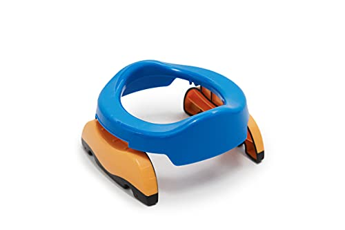 Orinal portatil infantil orinal plegable compacto y adaptable (Azul)
