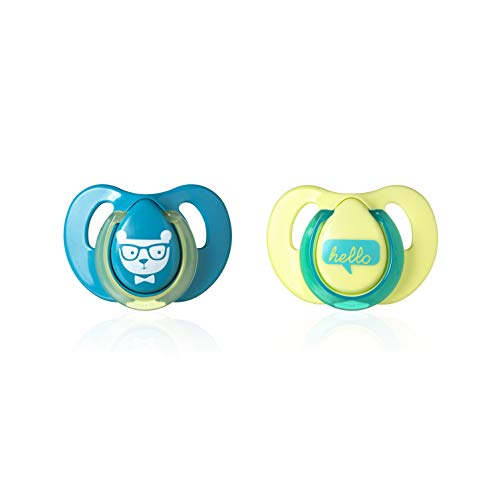 Tommee Tippee Cherry Latex Baby Soothers, 2 Pack, Multi-Color, 6-18M