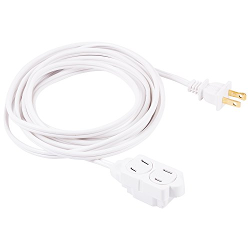 indoor extension cord white - 1