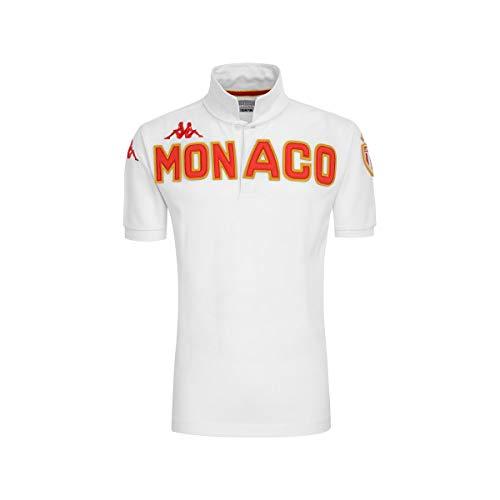 Kappa Poloshirt Eroi As Monaco, Unisex Erwachsene L Weiß/Rot