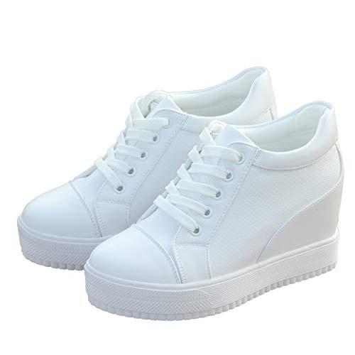 Zapatillas De Plataforma Para Mujer, Zapatos Deportivos Blancos Y Negros Para Primavera Y Otoño,...