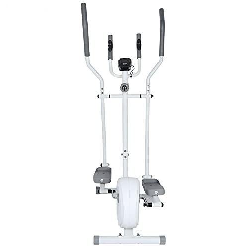 Mini bicicleta estática de casa, pedalier bicicleta estática fitness, máquina elíptica,volante de 4 kg de 2 vías, 8 segmentos,con pantalla LCD, 155,5 x 79,5 x 51 cm