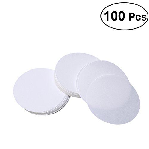 UKCOCO 100 PCS qualitatives Filterpapier, 12.5cm Dia Premium Discs Medium Durchflussrate (weiß)
