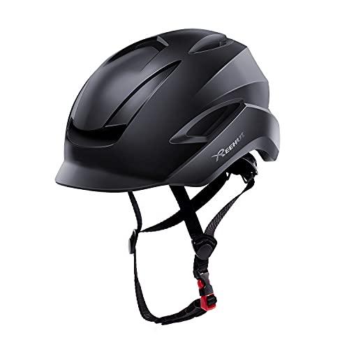 REEHUT Casco Bicicleta Casco Ciclismo con Visera y Forro Desmontable Tamaño Ajustable Especializado para Ciclismo de Montaña Motocicleta Biking Protección de Seguridad Adulto Unisex