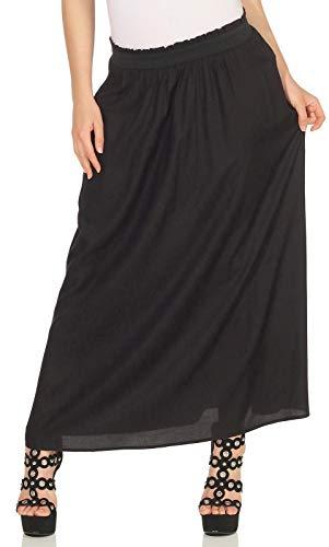 Only Onlvenedig Paperbag Long Skirt Wvn Noos Gonna, Nero (Black Black), 46 (Taglia Produttore: Large) Donna