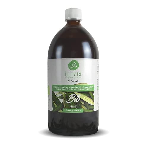 Ulivis - Estratto Foglie di Olivo Liquido. Integratore Alimentare Biologico - 1 Flacone da 1 L