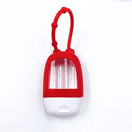 SHANYUR 1 unids 30 ml Mini portátil Botella vacía Viajando Botella de Recarga de Silicona Cubierta Protectora Subbotella (Color : Red)