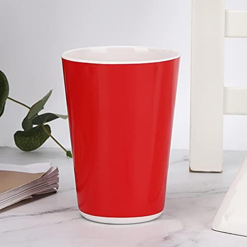 Copa de Agua roja, Hecha de lavaplatos de melamina Limpieza de Suministros para el hogar Taza de Viaje de Acero
