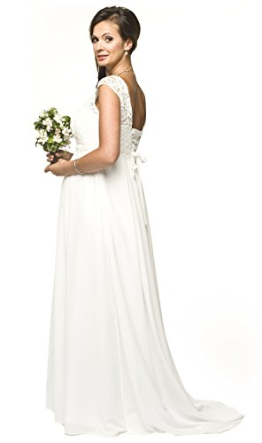 Torelle Maternity Wear Damenkleid Umstandskleid Brautkleid Spitze für Schwangere, aus weich fließendem Chiffon, Modell: LILIETTE, Größe XXL