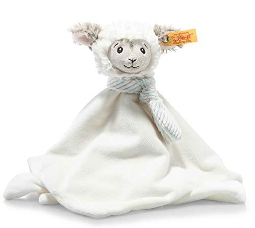 Steiff 242311 Soft Cuddly Friends Lita Lamm Schmusetuch - 26 cm - Kuscheltier für Babys - creme (242311), weiß 94 g