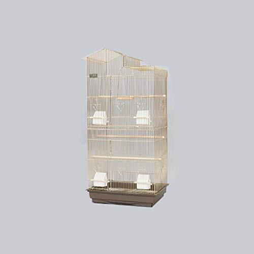 Gabbia per uccelli in metallo dorato, per cockatiels, monaci, parrocchetti, parrocchetti, ecc. 47.5*36*100CM a