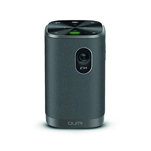 "Vivitek Qumi Z1H, kompakter Projektor, Kombiprojektor mit Bluetooth Lautsprecher, LED Beamer, WLAN wireless mirroring, integrierter Akku, 300 Lumen, 1280x720 Pixel, bis 100"" Diagonale, HDMI"