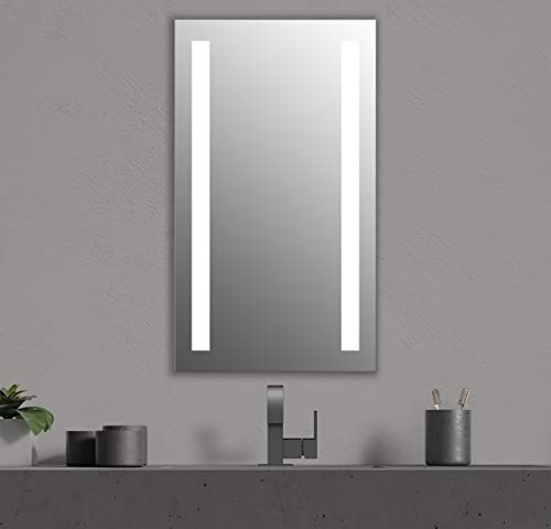 Seura 24 x 42 inch Lumin LED Lighted Bathroom Wall Mounted Dimmable -