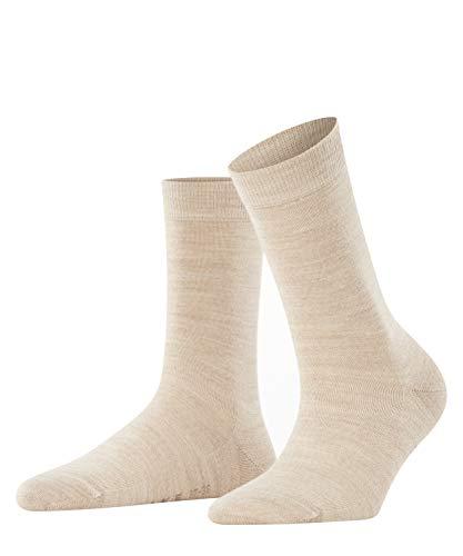 Falke Damen Socken Softmerino W SO-47488, Beige (Linn Melange 4549), 37-38