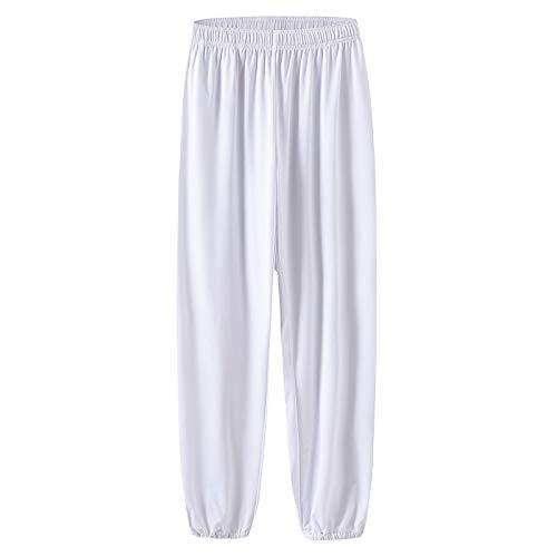 zz Mannen Vrouwen Martial Arts Broek Melk Zijde Tai Chi Lantaarn Broek Elastische Taille Sport Yoga Broek Joggers Broek Plus Size
