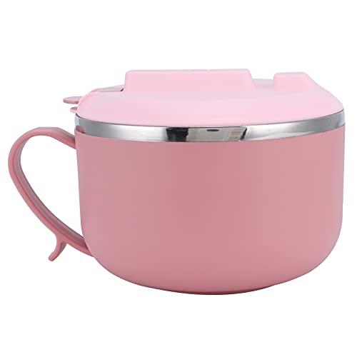 Tazón de almuerzo, recipiente de almuerzo para ensalada Anillo de sellado de silicona Seguro y duradero Diseño hueco de doble capa para la oficina de la escuela para hombres Mujeres para la(pink)