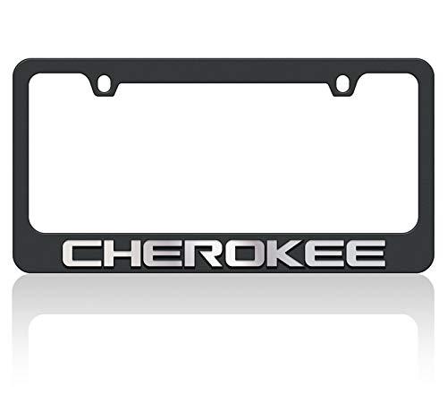 Eurosport Daytona Black License Plate Frame- 2018 JEEP Cherokee W/O Mirror Word