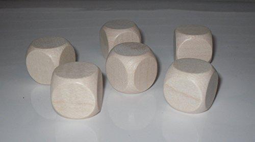 G&S 5 Blankowürfel aus Ahornholz (30 mm), Polybeutel