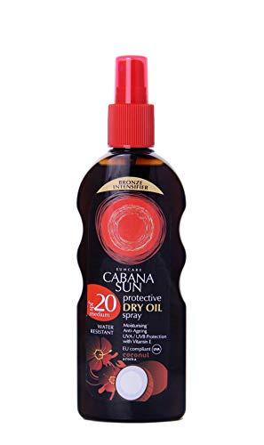 Cabana Sun Deep TANNING Dry Oil Spray Coconut Water Resistant 200ml SPF20