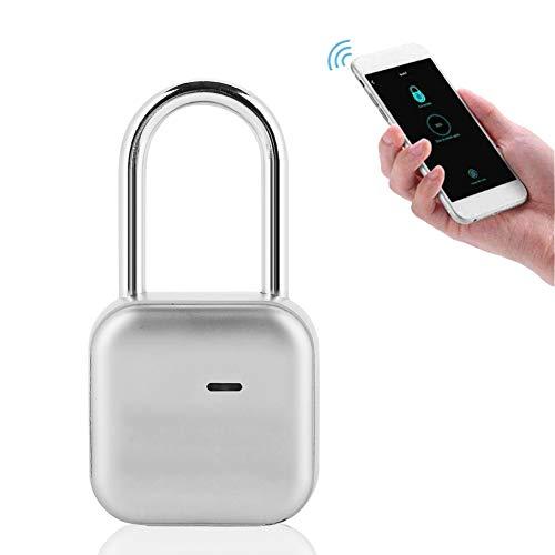 Intelligentes Vorhängeschloss, Anti-Einbruch Vorhängeschloss Kompatibel Bluetooth Smart IP66 Wasserdicht Geeignet für Tür, Rucksack, Koffer, Schrank, Fitnessstudio, Büro