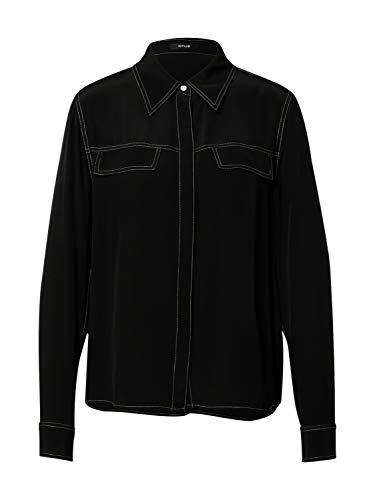 OPUS Bluse 'Fuba' mit Kontrastnähten schwarz (900 Black) 42