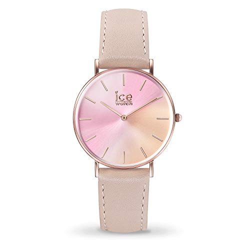 ICE-WATCH - CITY sunset Golden sun - Women's wristwatch with leather strap - 015753 (Extra small)