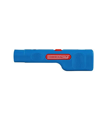 WEICON 52001001 Stripper No.1 | 6,5/6,5mm | Antennekabel stripper | Hoogwaardige striptang voor SAT-accessoires satellietkom coaxkabel, blauw 0, 067Kg