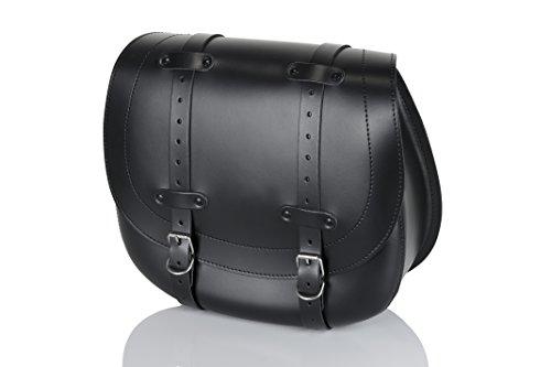 Customaccess AP0009N Bisaccia In Pelle Lato Sinistro Customacces HD Model AP0008N Black, Nero, Taglia Size Name