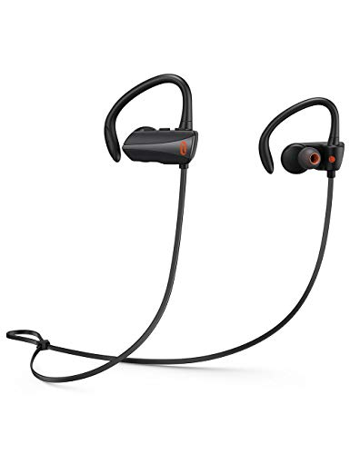 Wireless headphones, TaoTronics Bluetooth Headphones 13 Hours Playtime Bluetooth 5.0 Sport Earphones IPX7 Waterproof Wireless Earbuds Built-in Microphone Ear Hooks