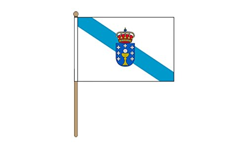 Galicia® 22,86 cm x 15,24 cm GIZZY de la bandera de palo y base