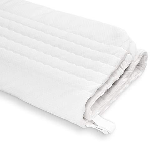 Ravensberger Matratzen® Baumwoll-Doppeltuch-Bezug sanft, atmungsaktiv, ideal für Allergiker mit 4-seitigem Reißverschluss geeignet für Kernhöhe 14-16 cm Matratzenbezug 100 x 200 cm