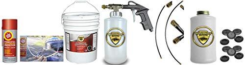 Fluid Film & Woolwax 5 Gallon Undercoating Kit Bundle w/PRO Gun & 2 Wands. Black Color