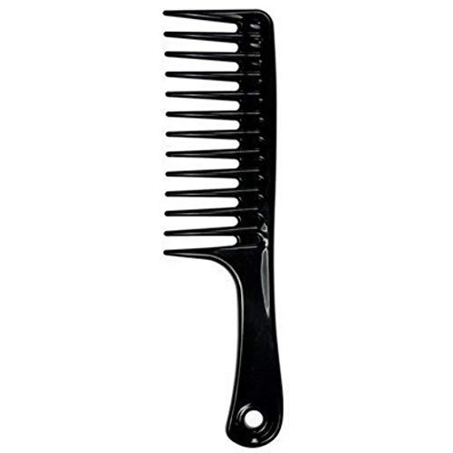 Panamami ABS large peigne outil de style durable dents larges fourche peigne brosse à cheveux coiffure Coiffure cheveux accessoires cadeau - noir