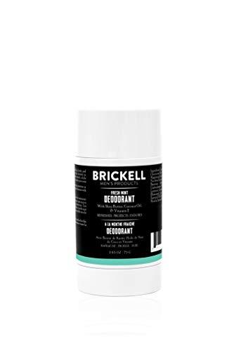 Brickell Mens Products natuurlijke deodorant voor mannen, natuurlijk en organisch, aluminium, alcohol en zuiveringszout vrij, 78 ml (Frisse munt)