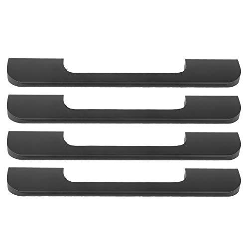 4 piezas Manija de puerta de gabinete, manija de cajón de tirador de puerta moderna simple para cocina, baño, armario, muebles, herrajes, negro